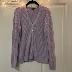 Brooks Brothers Lavender Silk/Cashmere Cardigan